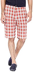 Urbantouch Men's Cotton Shorts(4677, Red, 34)