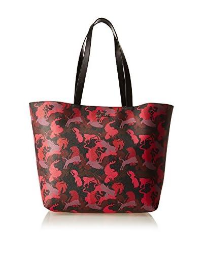 Just Cavalli Bolso shopping Negro / Rojo / Ciruela