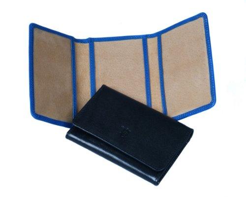 Sage Brown Genuine Leather Tri-Fold Travel Card Holder