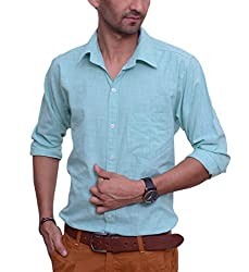 Ballard Men's Casual Shirt (BCS0014_Green_44)