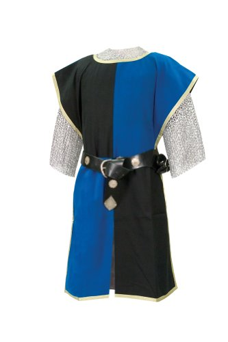 Knightly Tabard: Knight Costume(Black/Blue) - Halloween Costumes