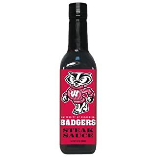 4 Pack WISCONSIN Badgers Steak Sauce 10 oz