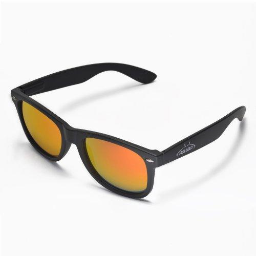 Walleva Kudo Sunglasses For Fishing/Biking/Hiking/Golf/Ski - Wsg108-Bk-Fr