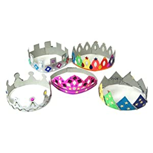 Make Your Own Crowns & Tiaras Art and Craft Activity Pack (Pack of 12)