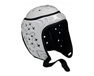 GILBERT VX Cell Casque de Protection de Rugby Enfant, Argent/Noir, Junior S