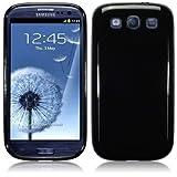 Samsung i9300 Galaxy S3 TPU Gel Skin Case / Cover - Solid Blackby Qubits