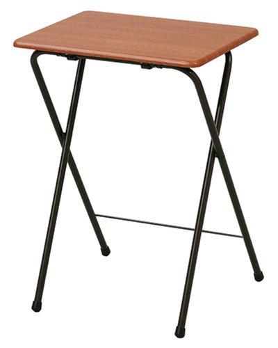 山善(YAMAZEN) 折りたたみミニテーブル(ハイ) ダークブラウン/ブラウン YST-5040H(DBR/BR)