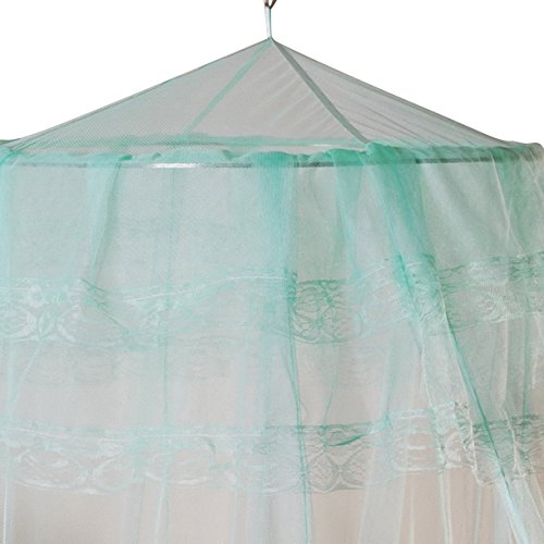 Gybest Round Lace Curtain Dome Bed Canopy Netting Princess