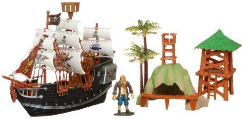 Rasehorn-38960-Piratenschiff-28-cm-mit-Figur-und-Zubehr