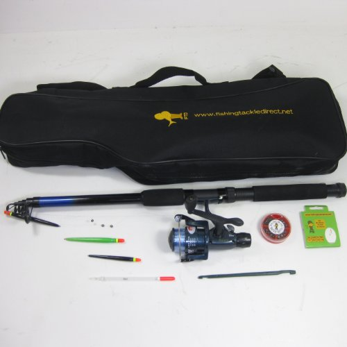 FTD Ready to Use Telescopic Fishing Set with Bag - already set up - just add bait!!!