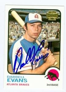 Darrell Evans Autographed Baseball Card Atlanta Braves 2002