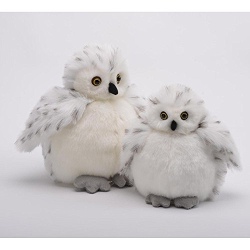 "White Snow Owl Baby Plumpee Plush Toy 7"" H"