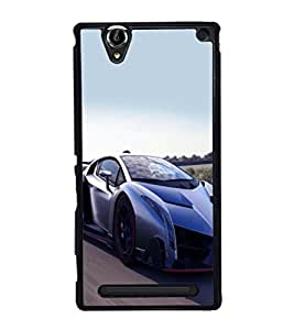 printtech Superfast Car Back Case Cover for Sony Xperia T2 Ultra , Sony Xperia T2 Ultra Dual