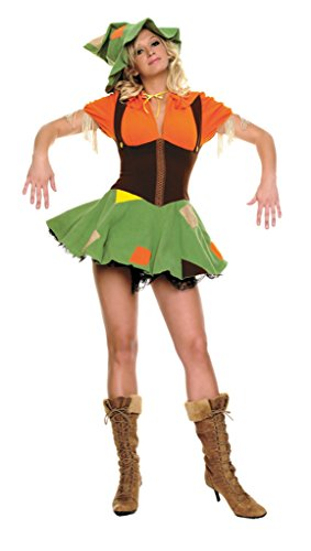 Leg Avenue Womens Scarecrow Cutie Outfit Fancy Dress Sexy Costume