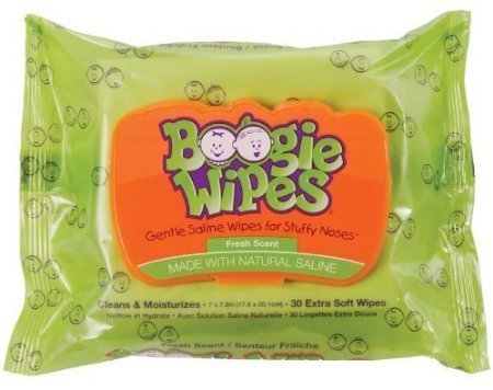 Boogie Wipes Saline Nose Wipes, Fresh Scent, 30-Count (Pack Of 6) front-1004034