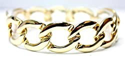 Gold Plated Round Chain Link Bracelet - Fashion Bracelet