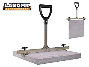 LANGFIT Plattenheber mit extra langem Griff - 20-50cm - Schonend für Rücken und Hüfte! Tragkraft bis 60kg - Made in Germany - MS-PH2050L