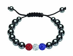 Dew Crystal Set Shamballa Style Adjustable Bracelet with 11mm Beads 78283ME007