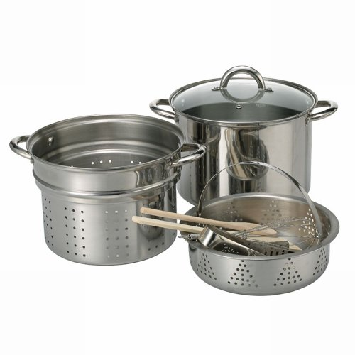 Ragalta RPP-3000 Pasta Pot Set, 8 Piece, Stainless Steel