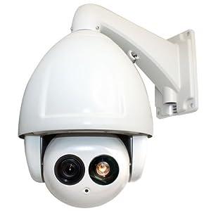 NEW 30 Times Zoom Intelligent IR Medium Speed CCTV Outdoor/Indoor Dome PTZ Security Camera - 1/3