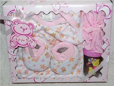 Lil Mimos 4 pc Baby Girl Gift Set