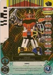 Power Rangers Rise of Heroes Dino Megazord 1-081 Ultra Rare Card