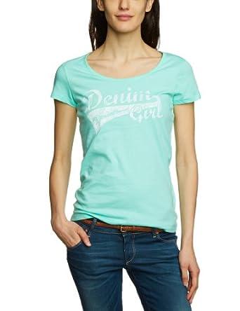 Tom Tailor Denim - Top - Manches 1/2 - Femme - Vert (7149 Light Mint) - FR : 44 (Taille fabricant : XL)