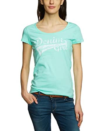 Tom Tailor Denim - Top - Manches 1/2 - Femme - Vert (7149 Light Mint) - FR : 36 (Taille fabricant : XS)