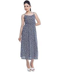 Designeez Blue Full Length Maxi Dress
