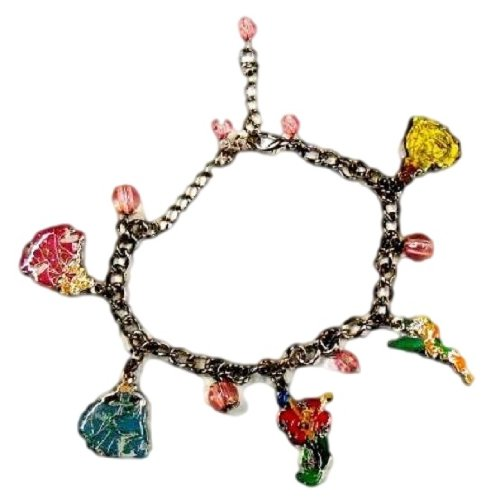 Disney Parks Exclusive : Princess (& Tinker Bell) 5 Charm Bracelet INCLUDES Gift Box