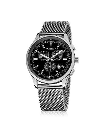 Akribos XXIV Men's AK625SSB Mesh Silver-Tone Watch