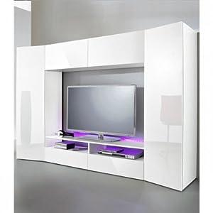 wohn anbauwand weiss raum und m beldesign inspiration. Black Bedroom Furniture Sets. Home Design Ideas