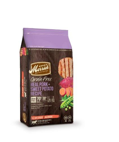 Merrick Grain Free 12-Pound Real Pork And Sweet Potato, 1 Bag