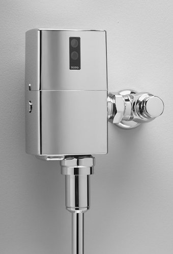 Toto TEU1UN12#CP EcoPower High Efficiency Urinal 1/8-GPF Flushometer Valve, Polished Chrome