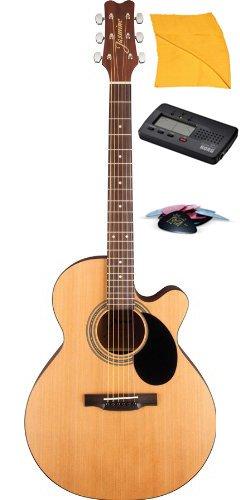 Jasmine S34C Nex Acoustic Guitar With Free Tuner, Picks, & Instrumentpro Polishing Cloth