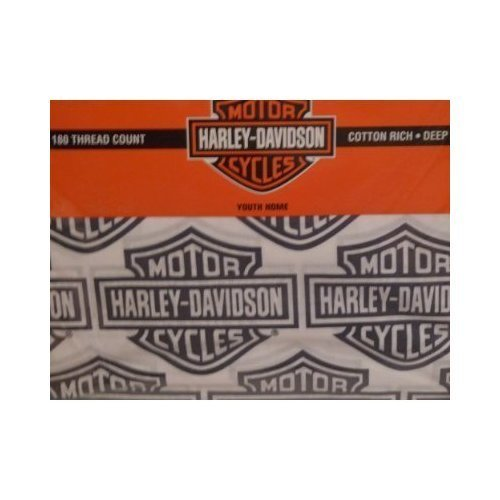 HARLEY-DAVIDSON MOTORCYCLES Flame Rider Fireball QUEEN SHEET SET