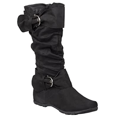 Hailey Jeans Co Womens Round Toe Buckle Detail Boots