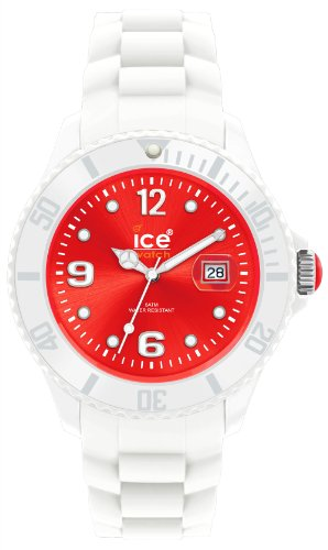 Ice-Watch Ice-White Red Dial Unisex Silicone Watch SI.WD.U.S