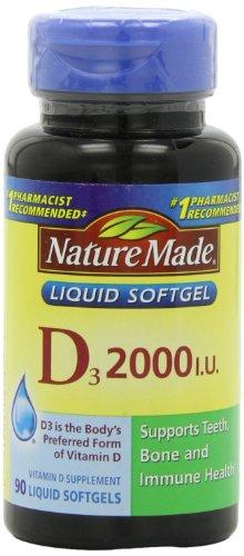 Nature Made Vitamine D 2000 U.I. avec D3,