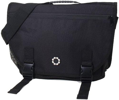 Dadgear Courier Diaper Bag - Solid Black