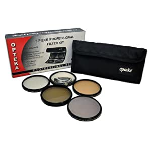 Opteka 67mm High Definition² Professional 5 Piece Filter Kit includes UV, CPL, FL, ND4 and 10x Macro Lens for Nikon 18-105mm f/3.5-5.6 AF-S DX VR, Nikkor 18-70mm f/3.5-4.5G ED IF AF-S DX, Nikkor 70-300mm f/4.5-5.6G ED IF AF-S VR and 18-135mm f/3.5-5.6G ED-IF AF-S Lenses