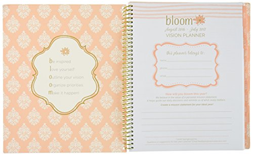 bloom daily planners 2016 17 academic year vision planner monthly