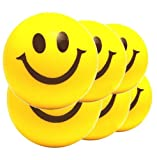 Stress Balls with Smiley Faces x 6 - Great Relief from Stress, ADHD & Autism