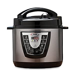 Power Pressure Cooker XL Flavor Infusion Technology Includes Bonus Recipe, Canning Books & More! 6-Quart, Black (As Seen On TV!) from Tristar Products