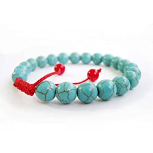 8mm Howlite Turquoisite Beads Tibetan Buddhist Mala Bracelet for Meditation Rosary