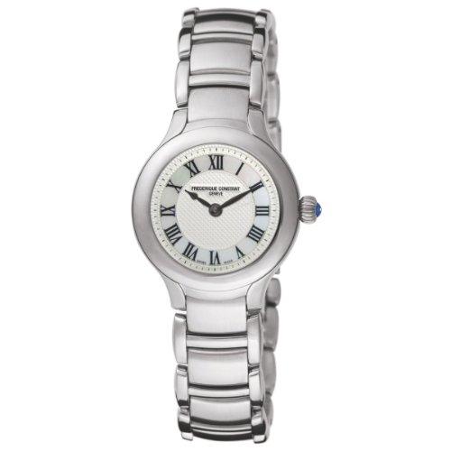 Frederique Constant FC-200M1ER6B - Reloj de pulsera mujer, acero inoxidable, color plateado