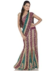 Chhabra555 Green Faux Georgette One Minute Saree