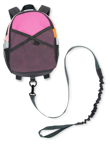 Brica By-My-Side Safety Harness Backpack, Pink/Gray