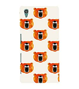 PrintVisa Cute Cartoon Teddy Bear 3D Hard Polycarbonate Designer Back Case Cover for Sony Xperia Z5