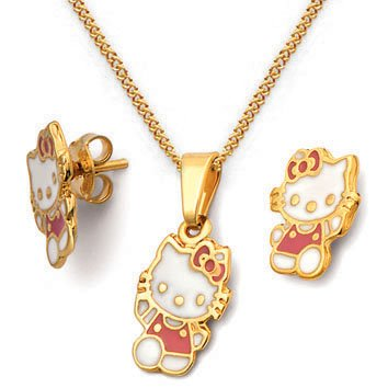 Hellow Kitty Gold Plated Sets